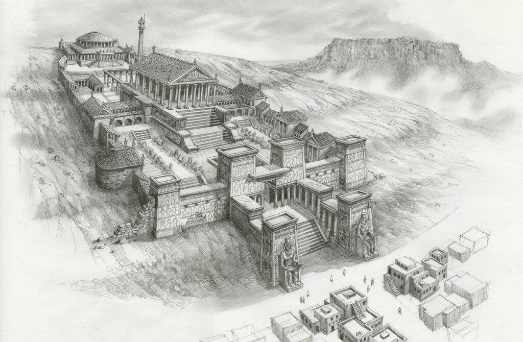 Aleksandrijska biblioteka 1 - prvobitni izgled