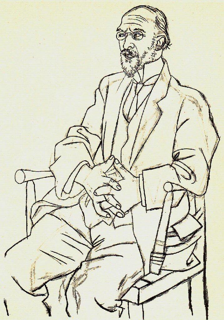 Erik Sati - portret uradio Pikaso 1920