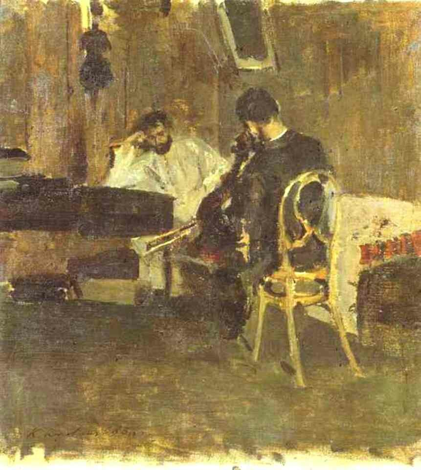 Konstantin Alexeevich Korovin - In a Room_