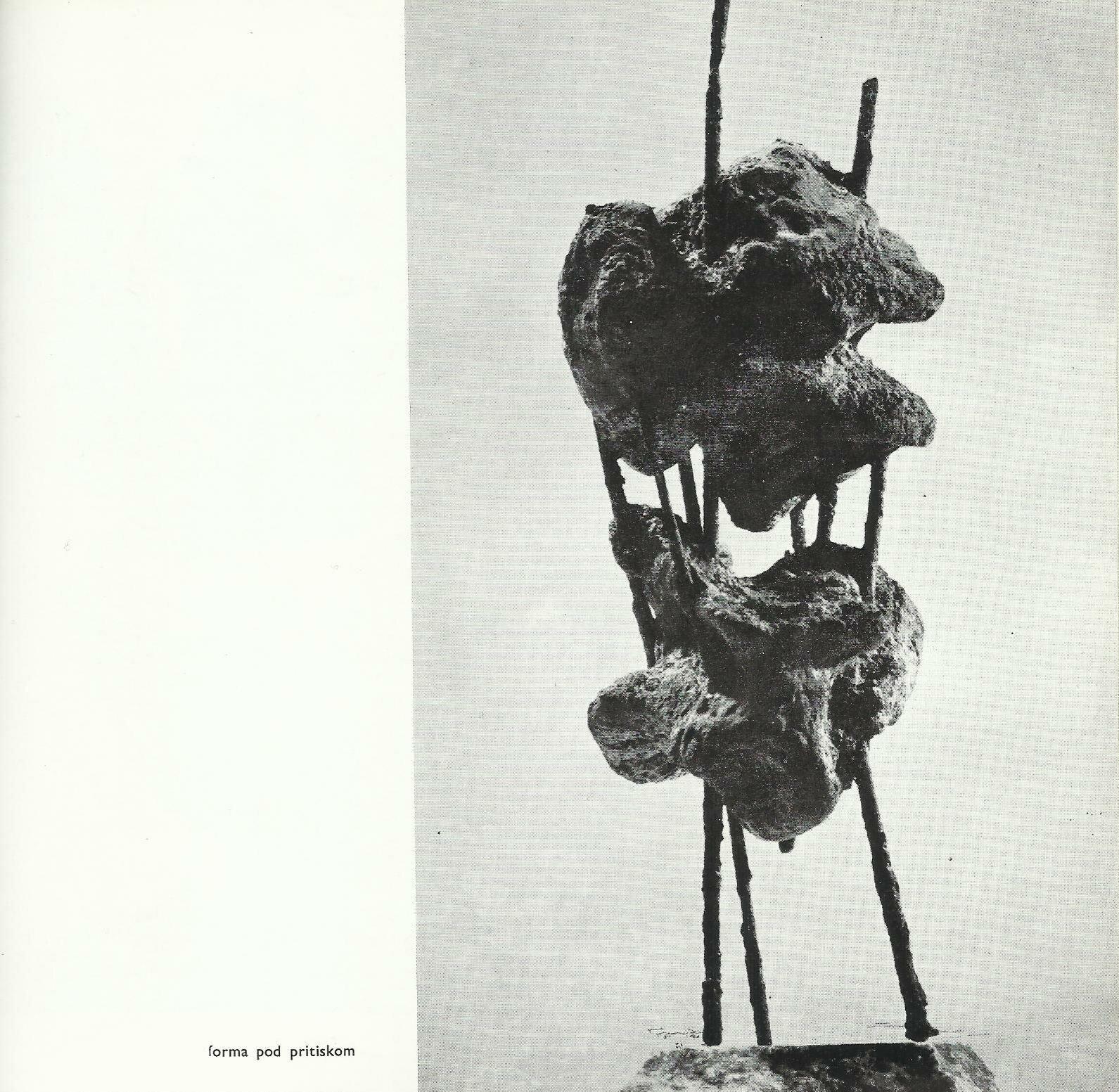 Olga_Jevrić,_Forma_pod_pritiskom,_oksid_gvožđa,_1963.