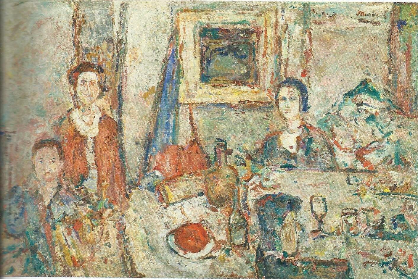 Porodica, ulje na platnu, 1982-1984