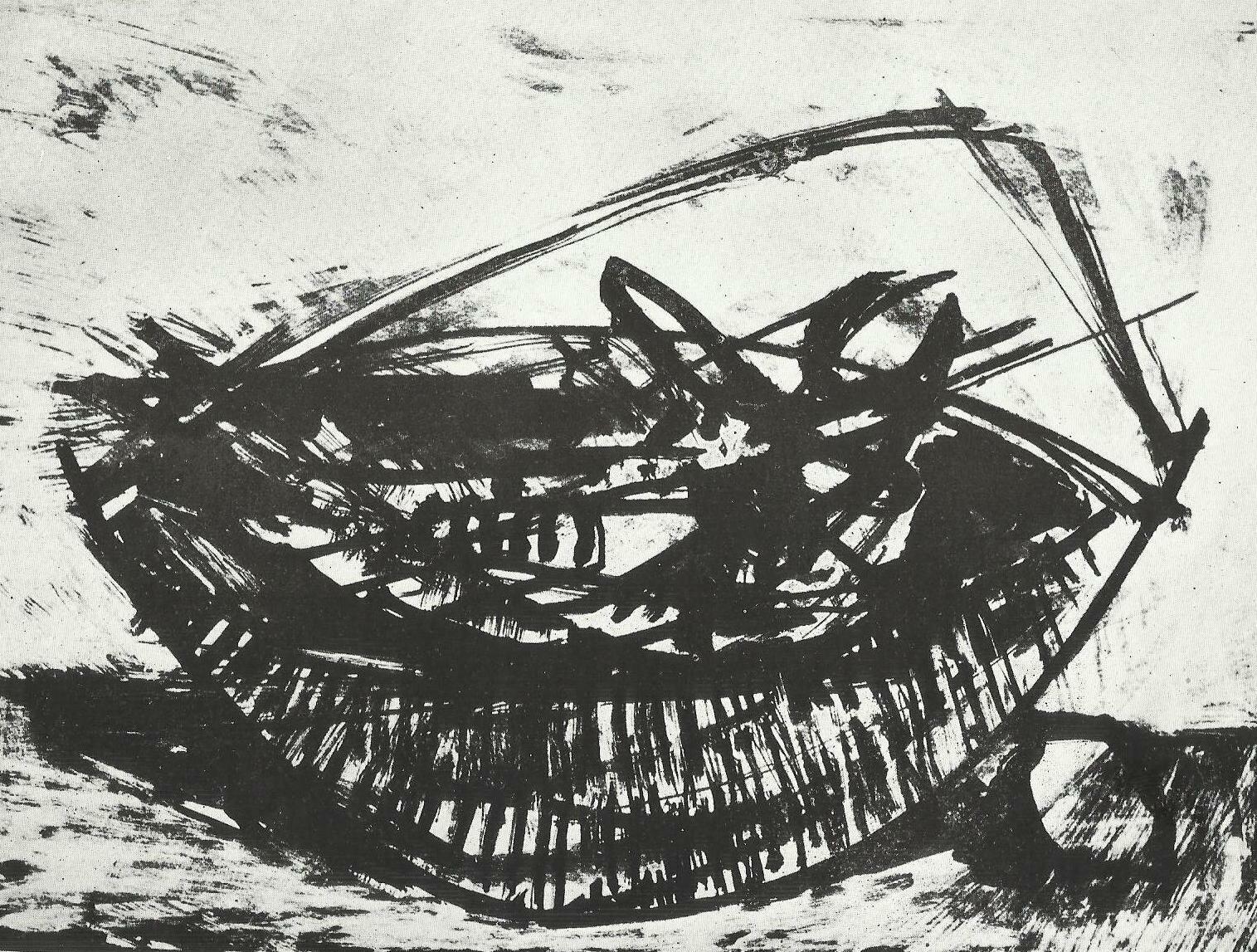 Ribarska korpa, litografija (1964)