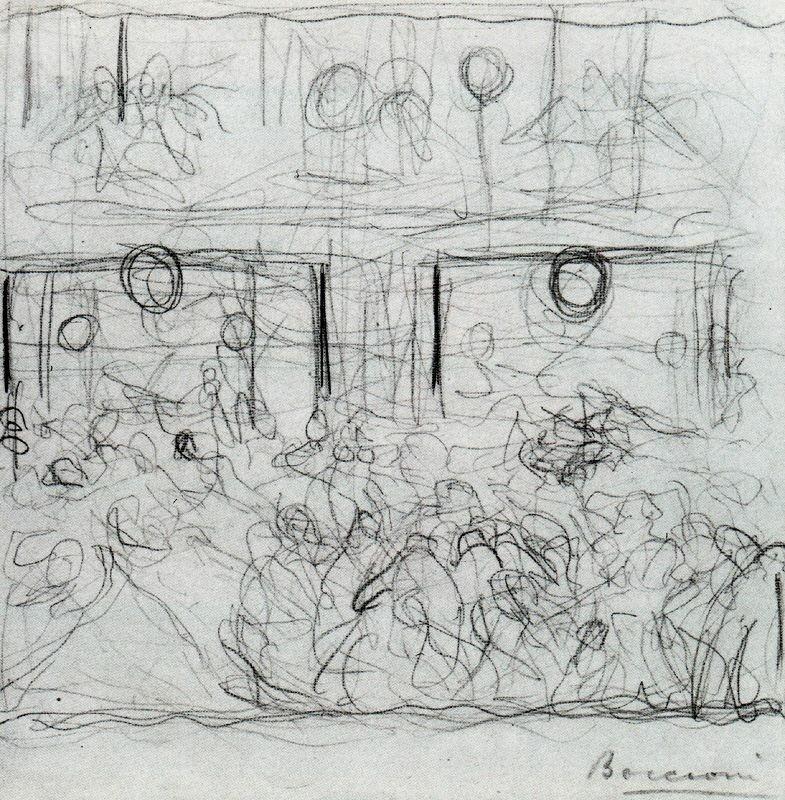 Umberto Boccioni - Study for _The Riot_