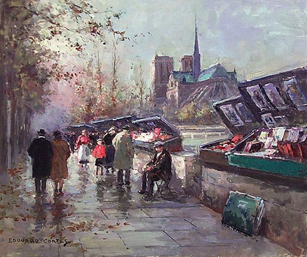 _douard Leon Cort_s - Bouquinistes de Notre Dame