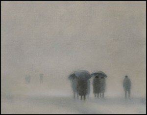 kisobrani u magli